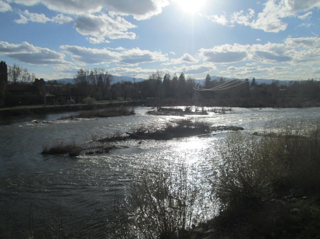 Clark Fork River in downtown Missoula, MT